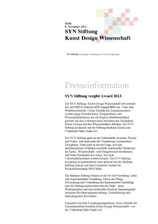 Vorschau Pressemitteilung